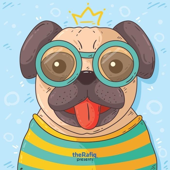 سگ شاد عینکی