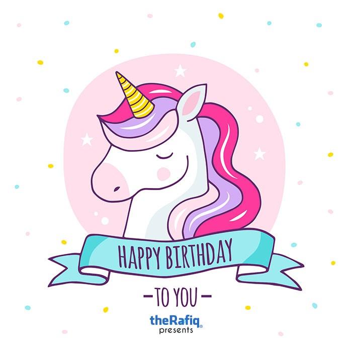 تم تولد تولدت مبارک یونیکورن