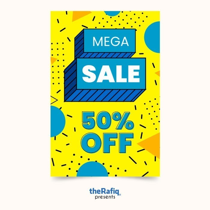 Colorful Sale Banner Collection Memphis Style-01