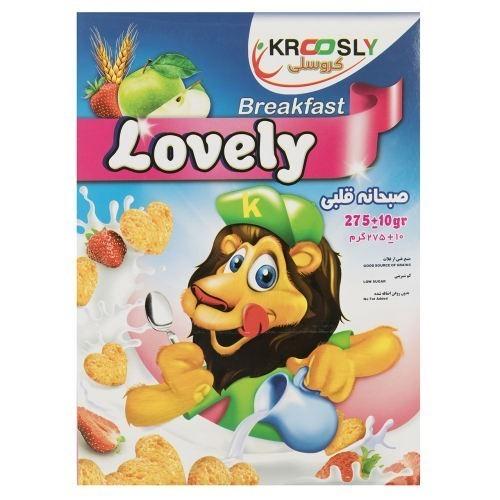 صبحانه قلبی کروسلی مقدار 275 گرم