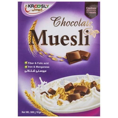 غلات صبحانه میوسلی شکلاتی کروسلی مقدار 500 گرم