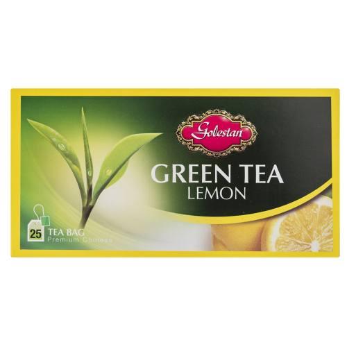 چای سبز کیسه ای با طعم لیمو بسته 25 عددی