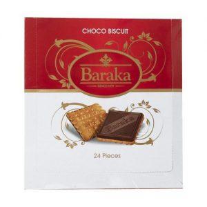بیسکوئیت با روکش شکلاتی باراکا بسته 24 عددی
