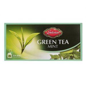 چای سبز کیسه ای با طعم نعناع بسته 25 عددی
