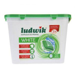 کپسول ژلهای ماشین لباسشویی لودویک مدل White بسته 22 عددی