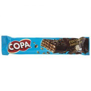 ویفر کاکائویی با کرم نارگیلی کوپا مقدار 32 گرم