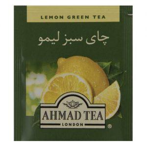 چای سبز کیسه ای احمد با طعم لیمو بسته 25 عددی