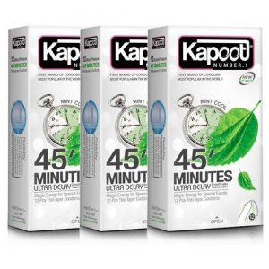 کاندوم کاپوت مدل 45 Minutes سه بسته 12 عددی