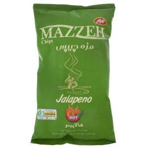 مزه چیپس مزمز با طعم هالاپینو مقدار 60 گرم
