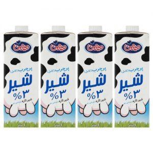 شیر پر چرب میهن حجم 1 لیتر بسته 4 عددی