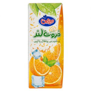 نوشیدنی پرتقالی پالپی میهن مقدار 200 میلی لیتر