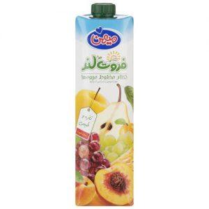 نکتار مخلوط میوه ها میهن حجم 1 لیتر