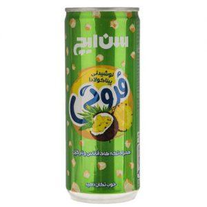 نوشیدنی پیناکولادا همراه با تکه های آناناس و نارگیل سن ایچ مقدار 0.25 لیتر