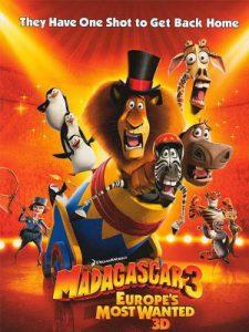 ماداگاسکار 3 : تحت تعقیب ترین های اروپا (2012)
