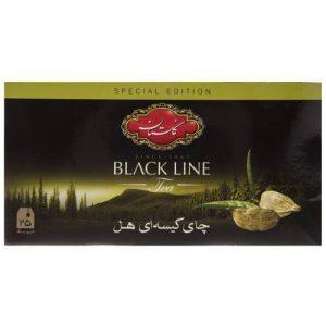 چای سیاه کیسه ای گلستان با طعم هل پک 25 عددی
