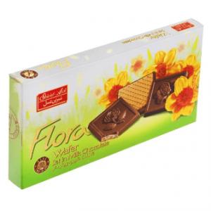 ویفر شکلات شیری فلورا مقدار 220 گرم