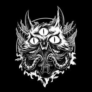 هیولا گربه سیاه و سفید   The cat monster black & white
