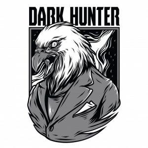 شکارچی تاریک سیاه و سفید | Dark hunter black and white
