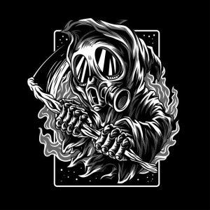 اسطوره تاریک سیاه و سفید   Dark myth black & white
