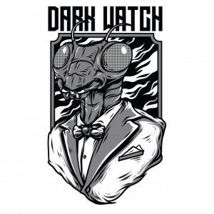 ساعت تاریک سیاه و سفید   Dark watch black and white