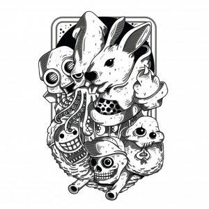 ضایعات سیاه و سفید | Doodles black and white