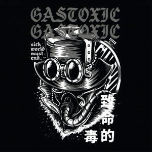 گاز سمی سیاه و سفید | Gas toxic black and white