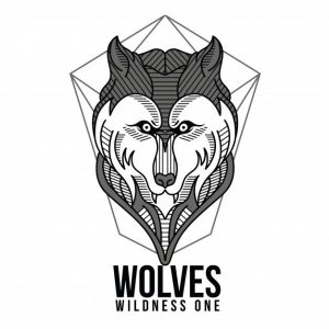 گرگهای هندسی سیاه و سفید   Giometric wolves black and white