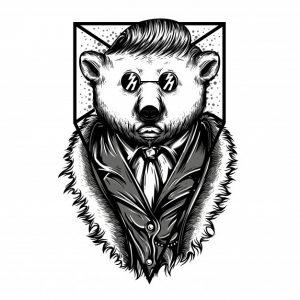 خرس قطبی سیاه و سفید است | Mr polar bear black and white