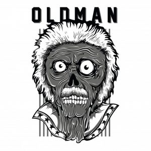پیرمرد میهن پرست سیاه و سفید | Oldman patriot black and white