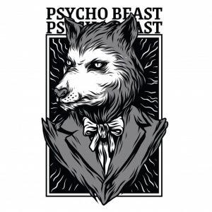 جانور روانی سیاه و سفید | Psycho beast black and white