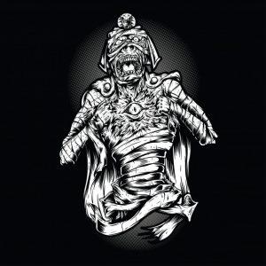 جیغ مومیایی سیاه و سفید | Scream mummy black and white