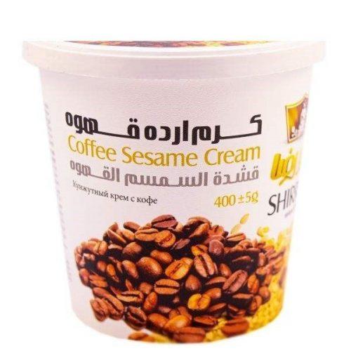 کرم ارده قهوه شیررضا مقدار ۴۰۰ گرم