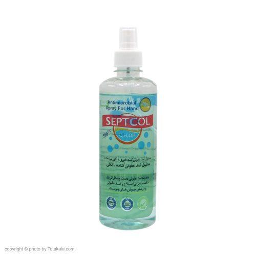 محلول ضدعفونی کننده دست سپت کل حاوی مواد نرم کننده و محافظ پوست ۵۰۰ میلی لیتر (سپتکل)
