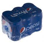 نوشابه گاز دار با طعم کولا پپسی بسته ۶ عددی