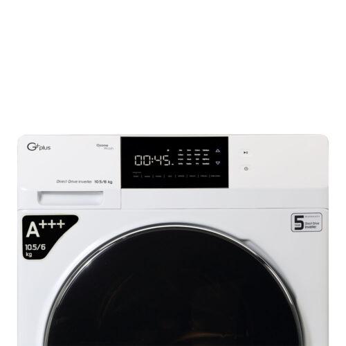ماشین لباسشویی جی پلاس مدل GWM-KD1069W ظرفیت 10.5 کیلوگرم